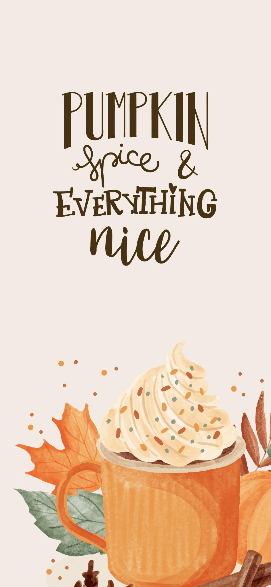 Oktober-Wallpaper-2021-design-bildschirmhintergrund-phone-pumpkin-spice-latte