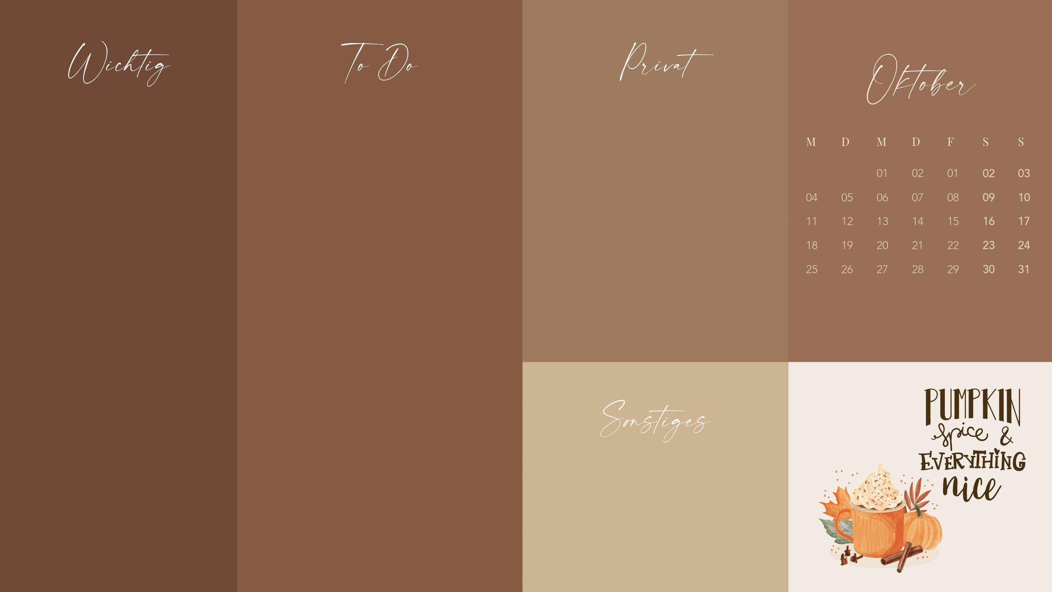 Oktober-Wallpaper-2021-design-bildschirmhintergrund-pumpkin-spice-latte